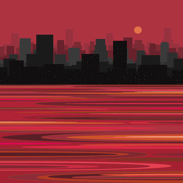Digital Art - City On The Water by Val Arie