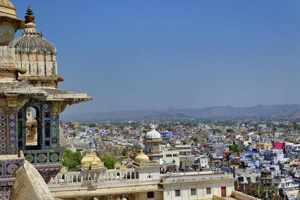 Elegance Photograph - City Palace Above Udaipur by Adam Jones
