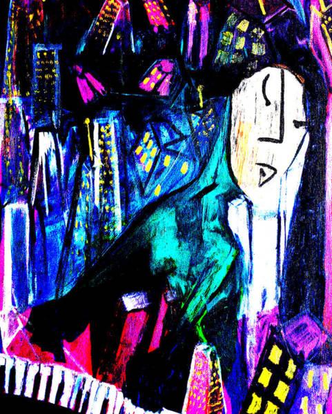 Digital Art - City Pianist by Artist Dot