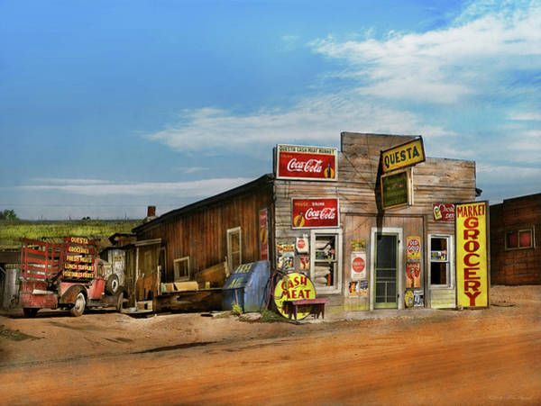 Photograph - City - Questa Nm - Free Air And More 1939 by Mike Savad