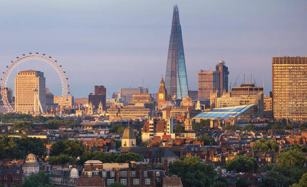 Democracy Photograph - City Skyline In Late Evening Sunlight by Simon Butterworth