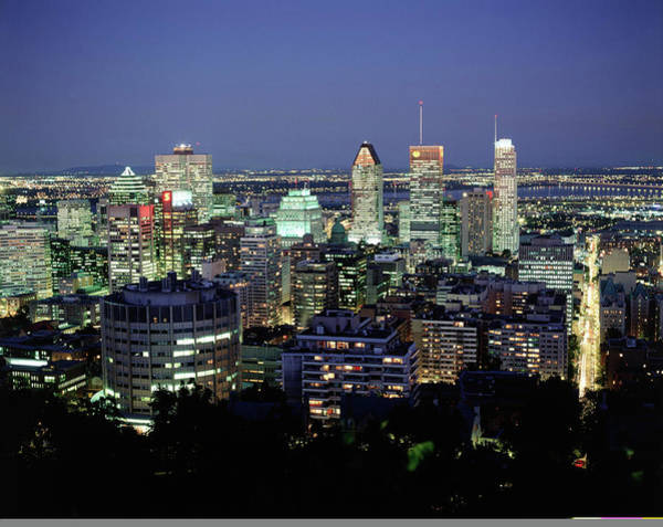 Quebec City Photograph - City Skyline, Montreal, Quebec, Can by Walter Bibikow