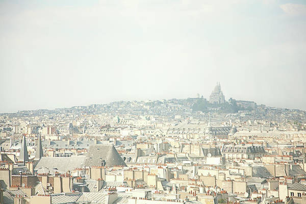 Paris Rooftop Photograph - City Skyline With Cathedral by Cultura/seb Oliver