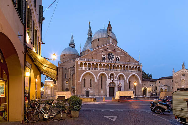 Wall Art - Photograph - City Street In Padua, Basilica Of Saint by Fotosol Fotosol