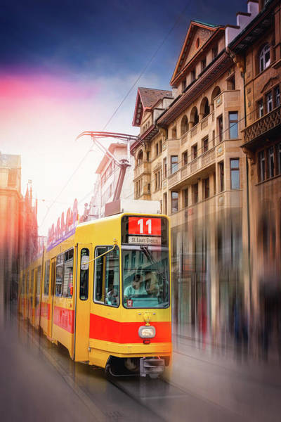 Trolley Car Wall Art - Photograph - City Tram Basel Switzerland by Carol Japp