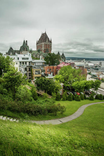 Quebec City Photograph - City View Of Old Quebec City, Quebec by Marlene Ford
