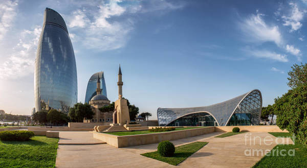 Famous Wall Art - Photograph - City View Of The Capital Of Azerbaijan by Liseykina