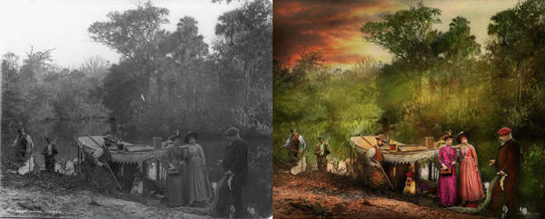 Photograph - City - Volusia County Fl - Far From Impressed 1893 - Side By Side by Mike Savad