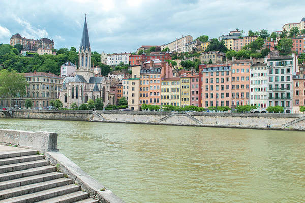 Wall Art - Photograph - Cityscape Along Saone River, Lyon by Jim Engelbrecht