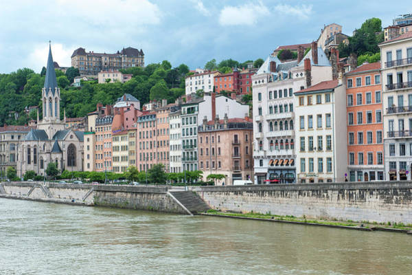 Wall Art - Photograph - Cityscape Along Saone River, Lyon by Lisa S. Engelbrecht