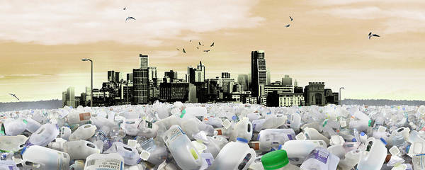 Wall Art - Photograph - Cityscape Drowning In Plastic Waste by Ikon Images
