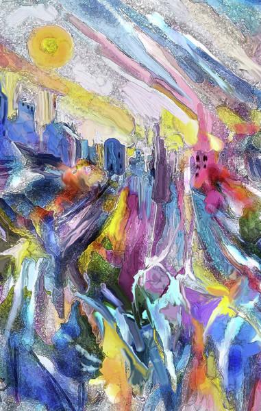 Digital Art - Cityscape by Jean Batzell Fitzgerald