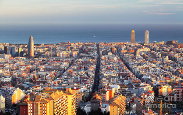 Wall Art - Photograph - Cityscape Of Barcelona, Spain by Ttstudio