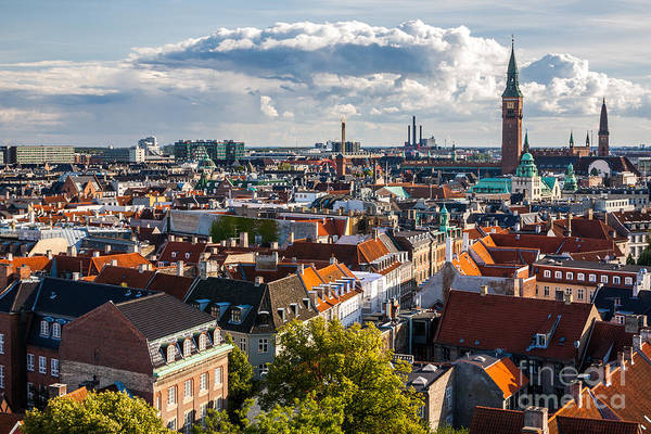 Midtown Photograph - Cityscape Of Copenhagen From The Round by Bucchi Francesco
