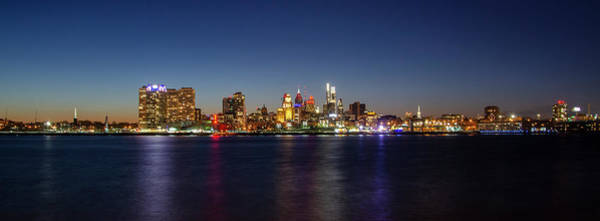 Wall Art - Photograph - Cityscape Of Philadelphia At Night by Bill Cannon