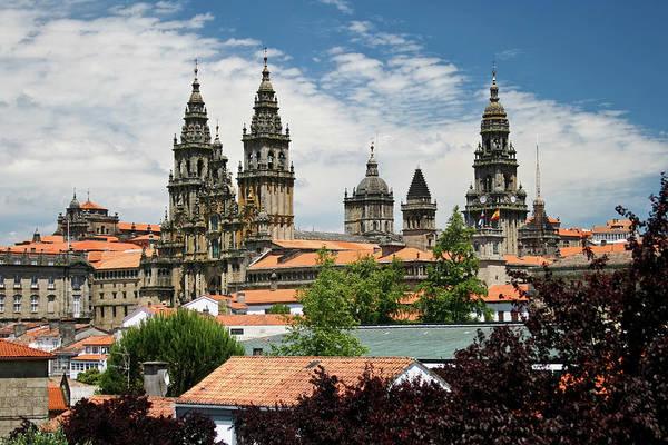 Wall Art - Photograph - Cityscape Of Santiago De Compostela by Ciburaska