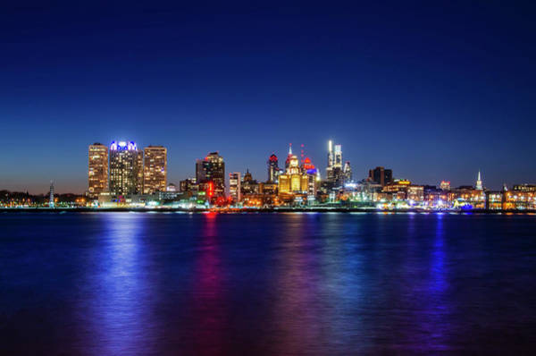 Wall Art - Photograph - Cityscape On The Delaware River - Philadelphia by Bill Cannon
