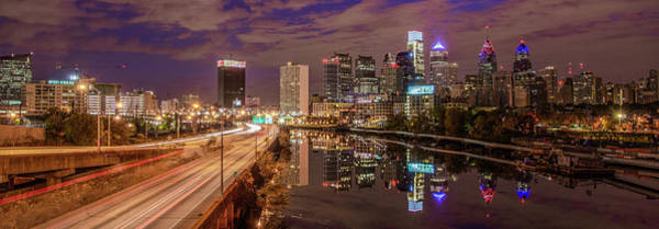 Photograph - Cityscape Panorama - Philadelphia From South Street by Bill Cannon