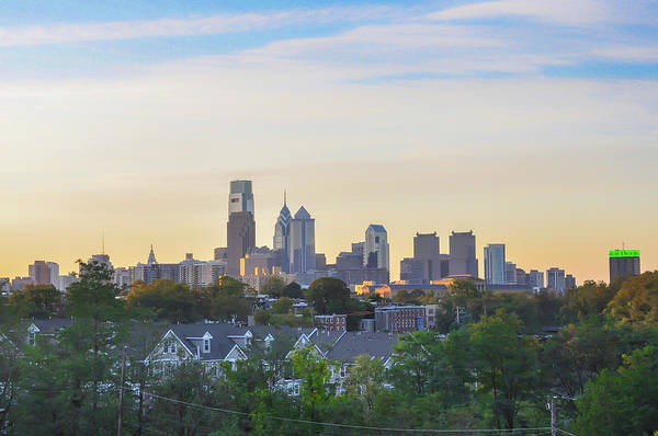 Wall Art - Photograph - Cityscape - Philadelphia - City Of Brotherly Love by Bill Cannon