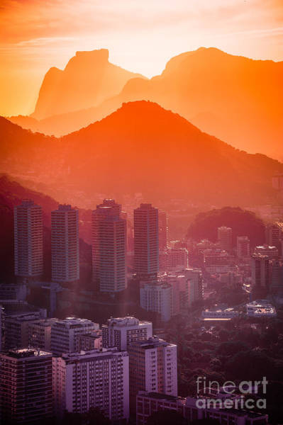 Wall Art - Photograph - Cityscape With Mountain Range In The by Celso Diniz