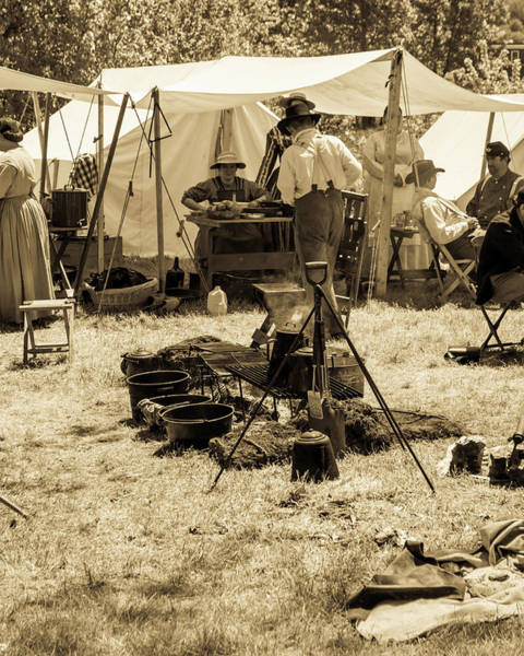 Photograph - Civil War Encampment by Stewart Helberg