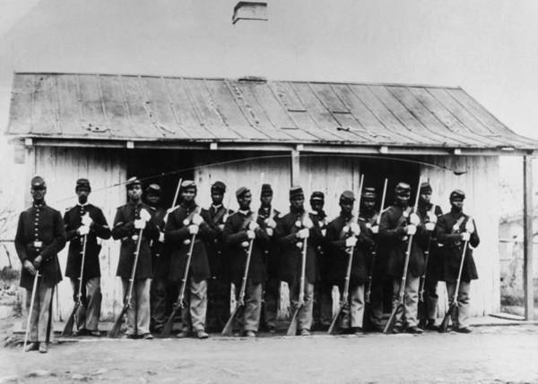 Rifle Photograph - Civil War Soldiers by Fotosearch
