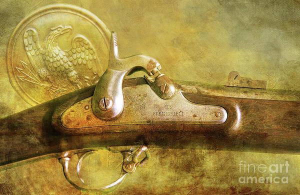 Wall Art - Digital Art - Civil War Springfield Rifle  by Randy Steele