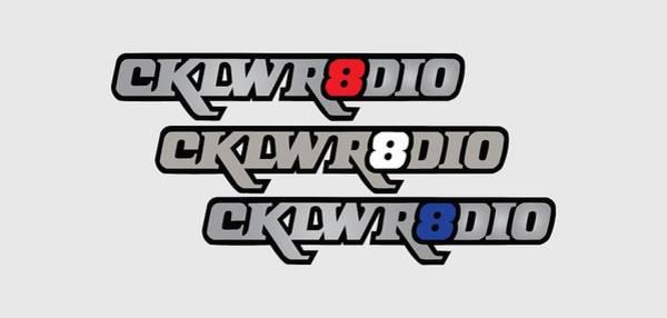 Digital Art - Cklw Mid70 Logo Red White Blue by Thomas Leparskas