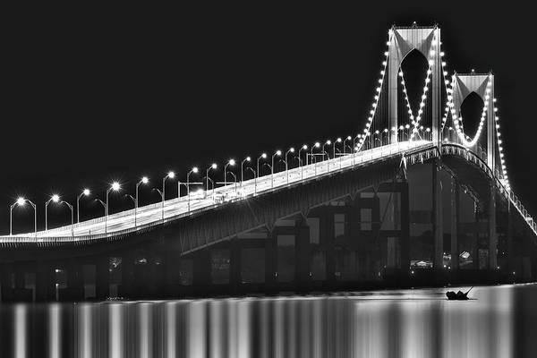 Photograph - Claiborne Pell Newport Ri Bridge by Susan Candelario