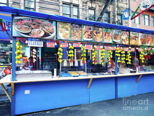 Wall Art - Photograph - Clam Bar At The Feast Of San Gennaro In New York City by John Rizzuto
