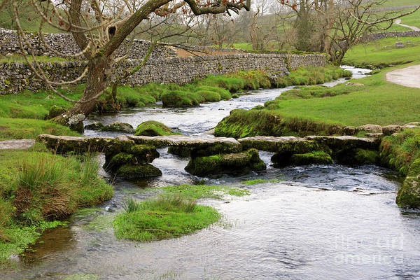 Wall Art - Photograph - Clapper Bridge Over Malham Beck In Malhamdale Yorkshire Dales by Louise Heusinkveld