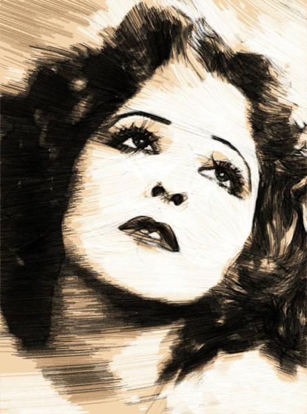 Wall Art - Drawing - Clara Bow It Girl 2 by Steve K