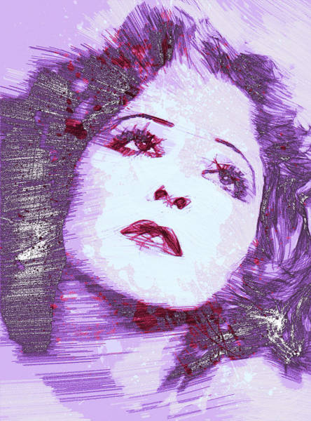 Wall Art - Painting - Clara Bow It Girl by Steve K