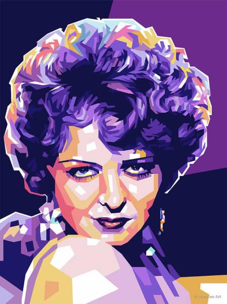Pop Star Digital Art - Clara Bow Pop Art by Stars-on- Art
