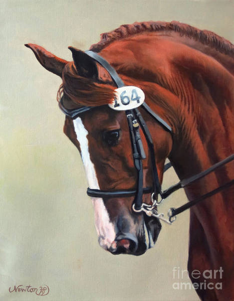 Dressage Wall Art - Painting - Claredy Locomotion by Jeanne Newton Schoborg