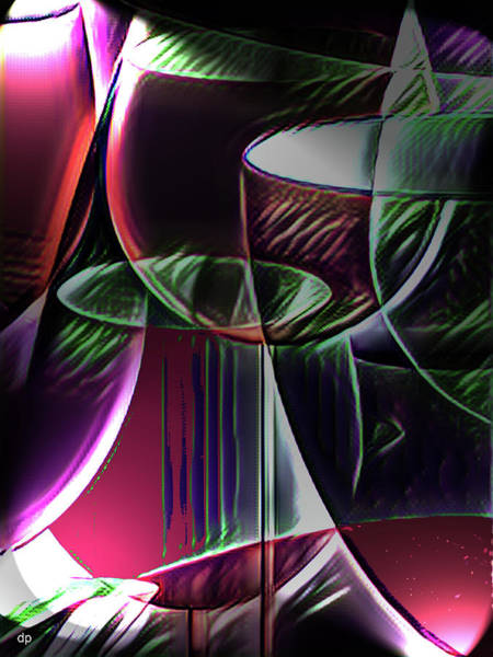 Wall Art - Digital Art - Claret Abstract by Digital Painting