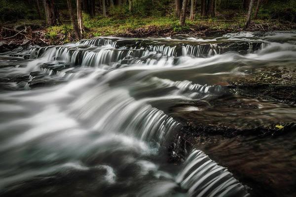 Photograph - Clark Creek Cascades No 1 by Simmie Reagor