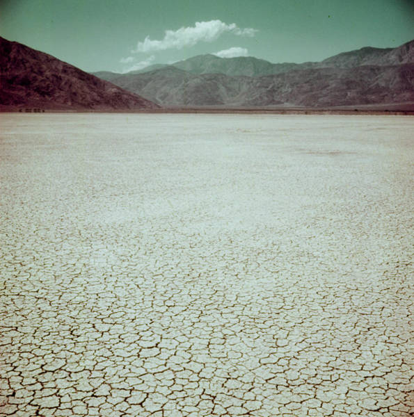 Santa Rosa Photograph - Clark Dry Lake Laying Before Coyote Moun by Loomis Dean