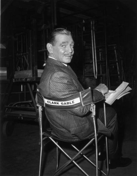 Photograph - Clark Gable by Hulton Archive