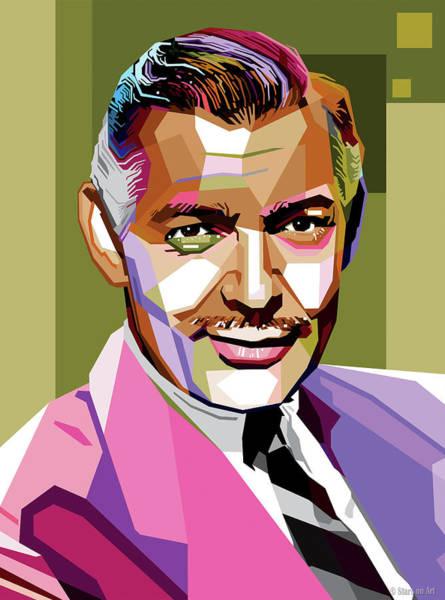 Digital Art - Clark Gable by Stars on Art