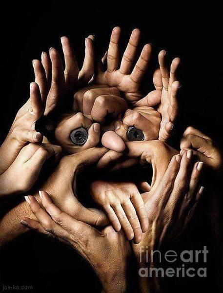 Photograph - Class Hand Face by Kasey Jones