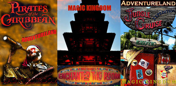 Wall Art - Digital Art - Classic Adventureland Attractions by David Lee Thompson