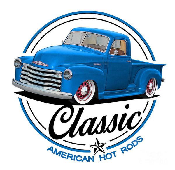 Wall Art - Mixed Media - Classic American Hot Rod by Paul Kuras