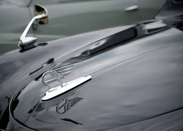 Photograph - Classic Austin Car Bonnet Badge by Helen Northcott