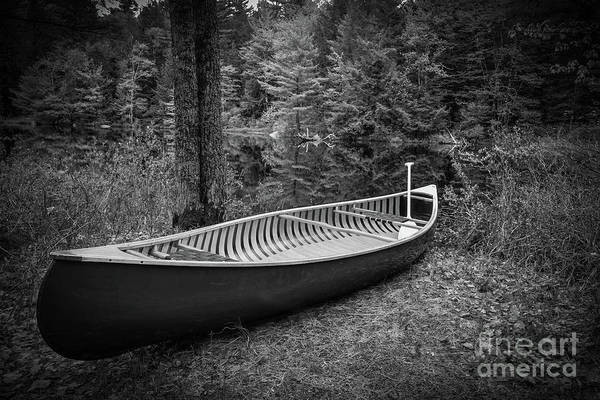 Photograph - Classic Canoe by Edward Fielding