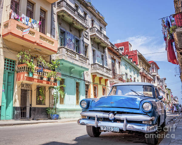 Wall Art - Photograph - Classic Car Havana 8x10 by Delphimages Photo Creations