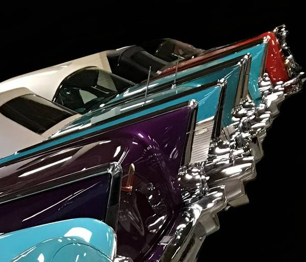 Mixed Media - Tail Fins Of Classic Cars by Joan Stratton