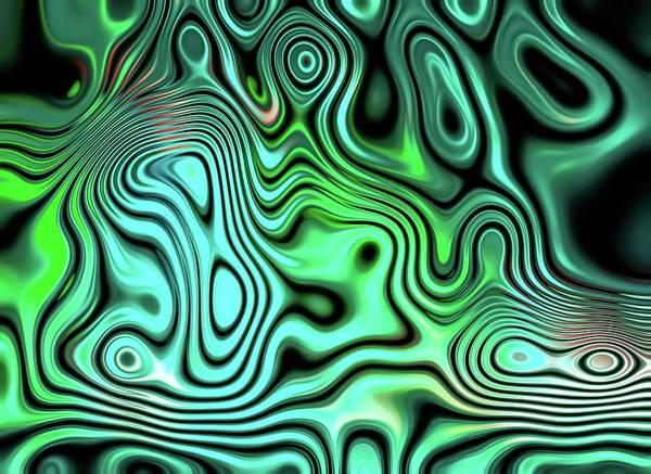 Digital Art - Classic Chaos Green by Don Northup