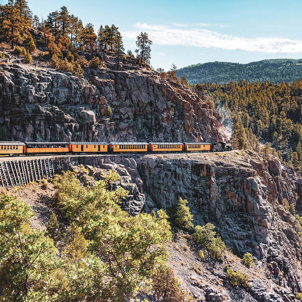 Photograph - Classic Colorado Durango Colorado Train In The San Juan Mountains by Gregory Ballos