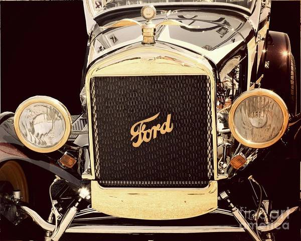 Wall Art - Photograph - Classic Ford Car by Suzanne Wilkinson